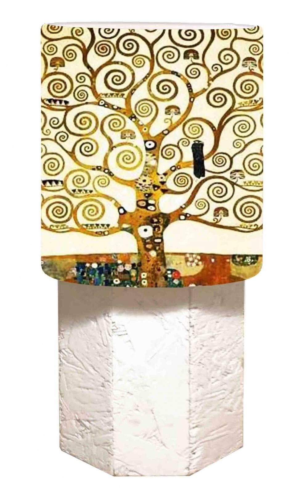 Abat Jour Cilindro abat jour klimt - l'albero della vita