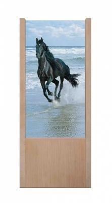 Lampada da tavolo in legno Cavallo Nero