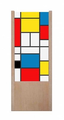 Lampada da tavolo in legno Mondrian