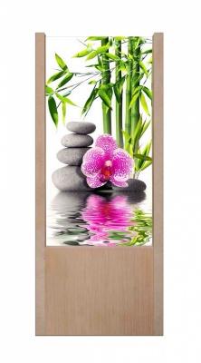 Lampada da tavolo in legno Orchidee