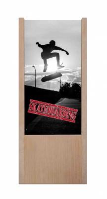 Lampada da tavolo in legno Skateboarding