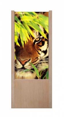 Lampada da tavolo in legno Tigre
