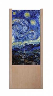 Lampada da tavolo in legno Vincent Van Gogh _ Notte stellata