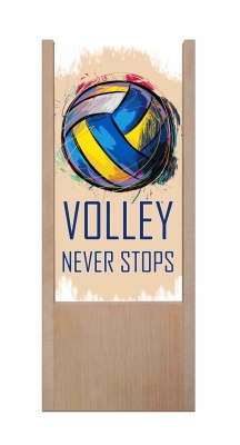 Lampada da tavolo in legno Volleyball never stop