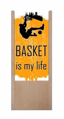 Lampada da tavolo in legno basket is my life