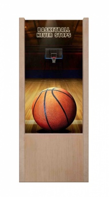 Lampada da tavolo in legno basketball never stops