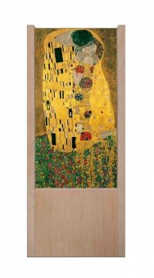 Lampada da tavolo in legno il bacio di Klimt