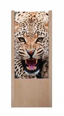 Lampada da tavolo in legno jaguar animal