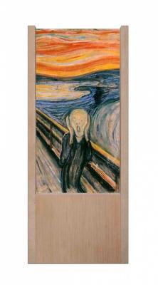 Lampada da tavolo in legno l'urlo di Munch