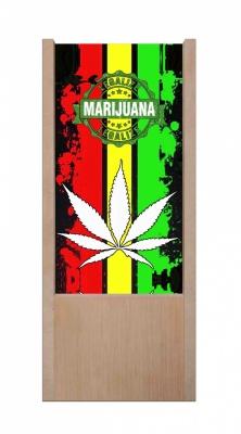 Lampada da tavolo in legno marijuana legalize
