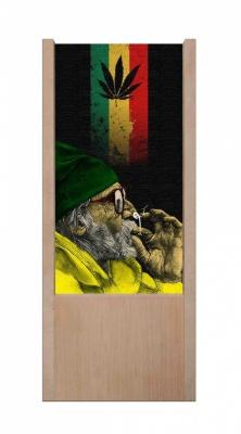 Lampada da tavolo in legno marijuana smoking