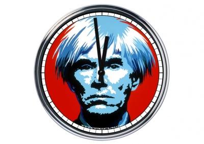 Orologio da parete in acciaio Andy Warhol