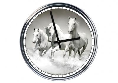 Orologio da parete in acciaio  Cavalli Bianchi
