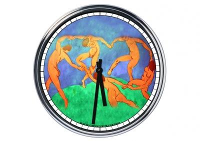 Orologio da parete in acciaio Henri Matisse La Danza (1910)