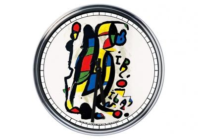 Orologio da parete in acciaio Joan Mirò