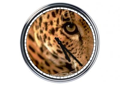 Orologio da parete in acciaio  Leopardo
