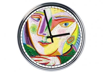Orologio da parete in acciaio Pablo Picasso - cubismo