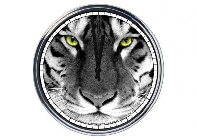 Orologio da parete in acciaio Tigre
