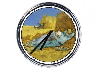 Orologio da parete in acciaio Van Gogh Mezzogiorno, pausa lavoro