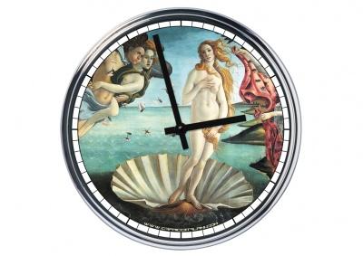 Orologio da parete in acciaio Venere di Botticelli