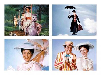 Set 4 Tovagliette plastificate prima colazione  Mary Poppins