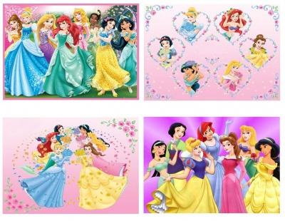 Set 4 Tovagliette plastificate prima colazione Principesse Disney